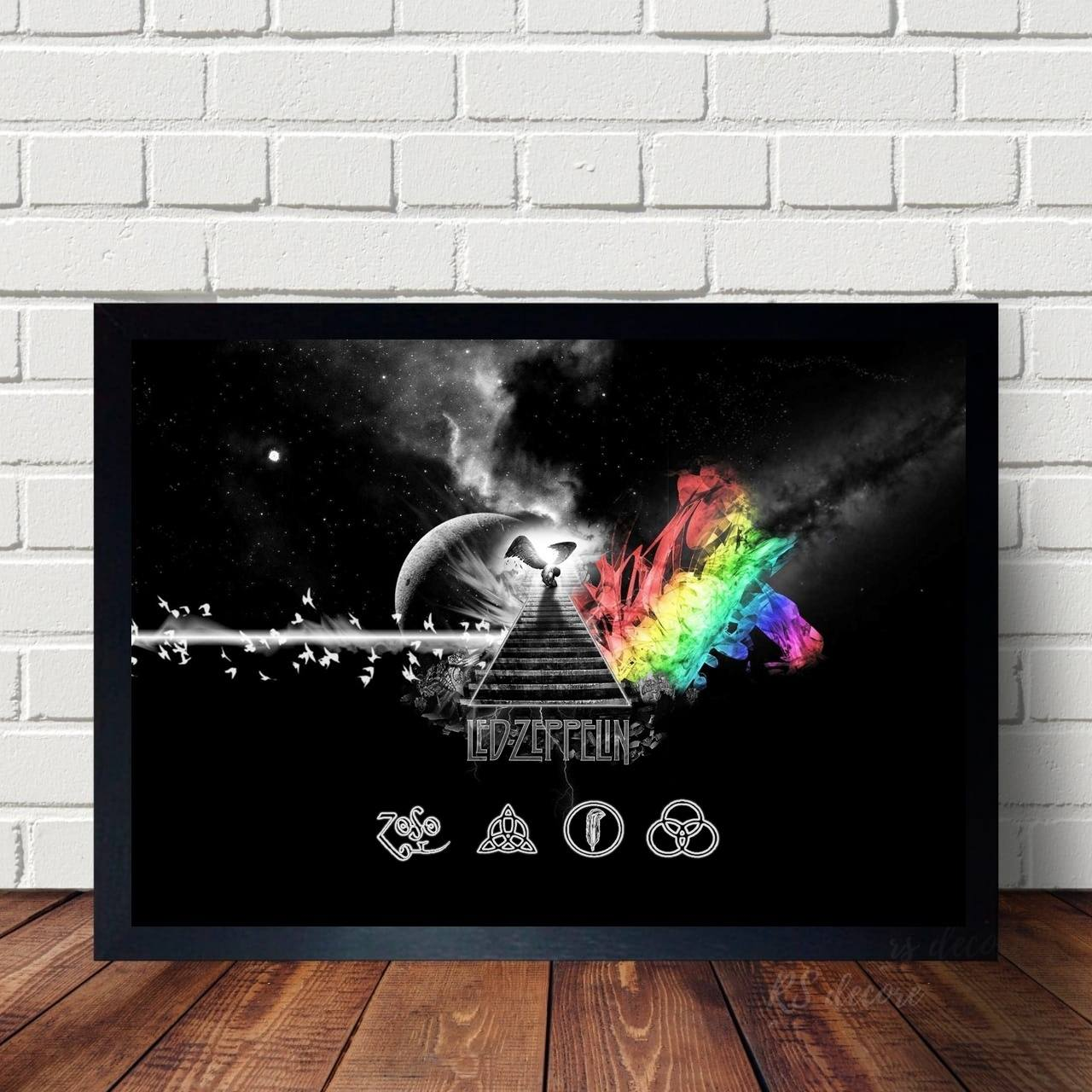 Quadro Led Zeppelin Simbolos