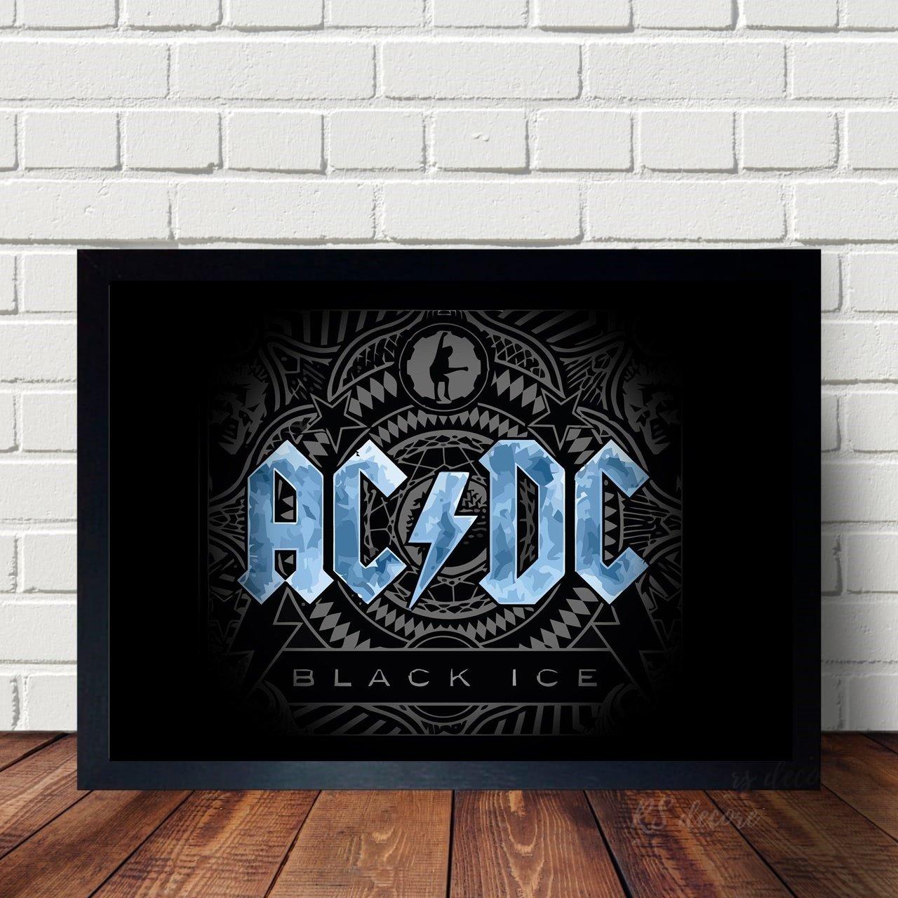 Quadro Logo ACDC Azul