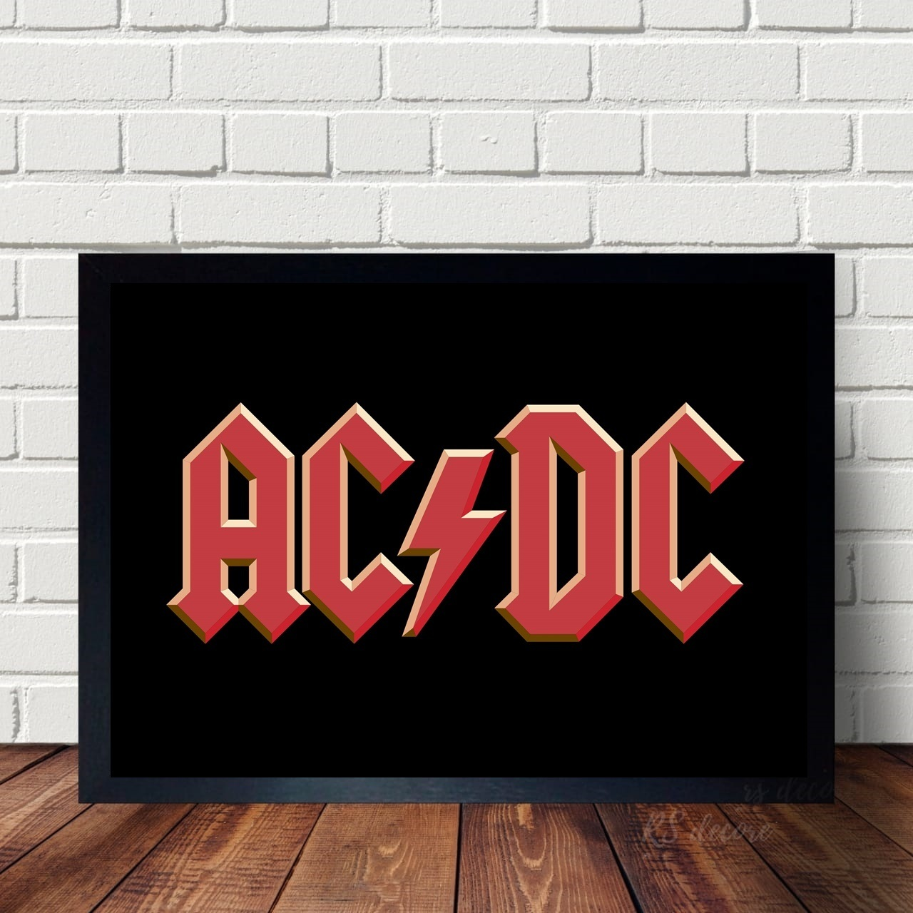 Quadro Logo da Banda ACDC