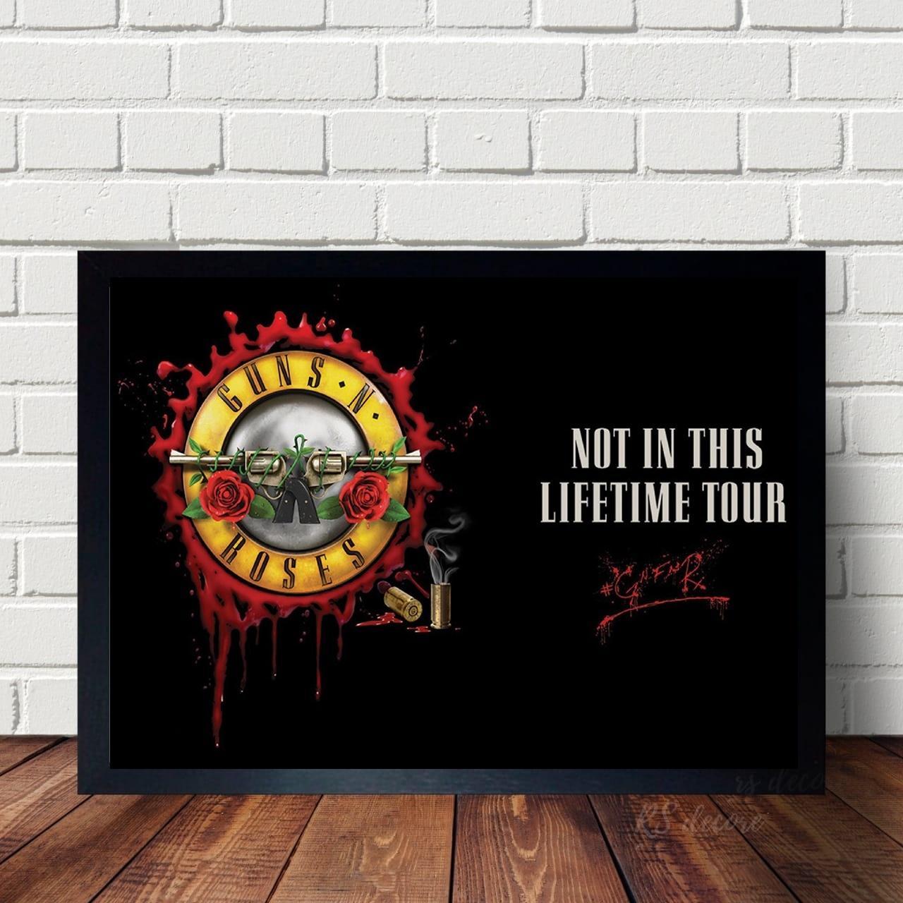 Quadro Poster Banda Guns N Roses