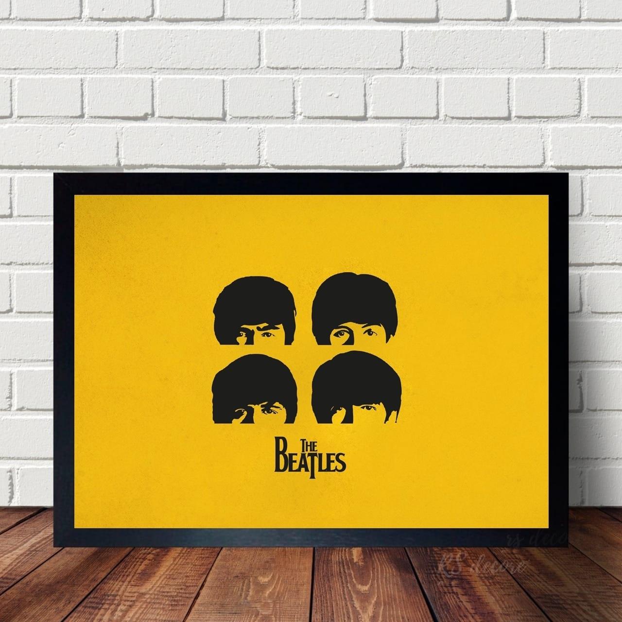 Quadro The Beatles Amarelo