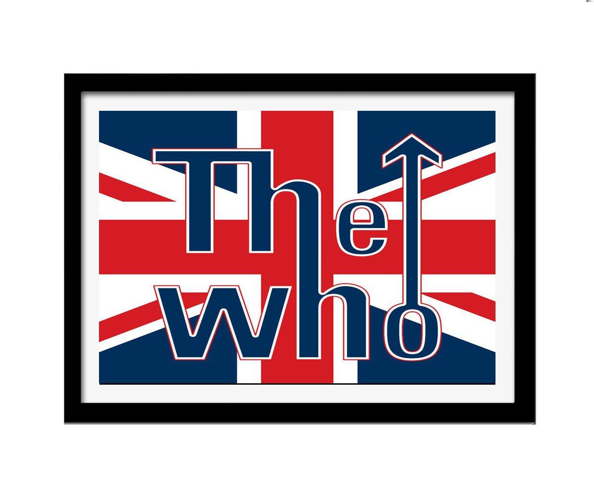 Quadro The Who Logo mdf 33x25 moldura preto