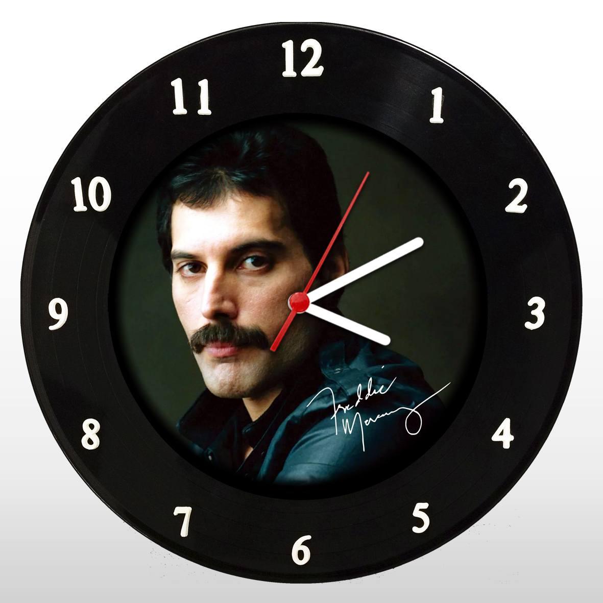 Freddie Mercury - Queen - Relógio de Parede Disco de Vinil - Mr. Rock