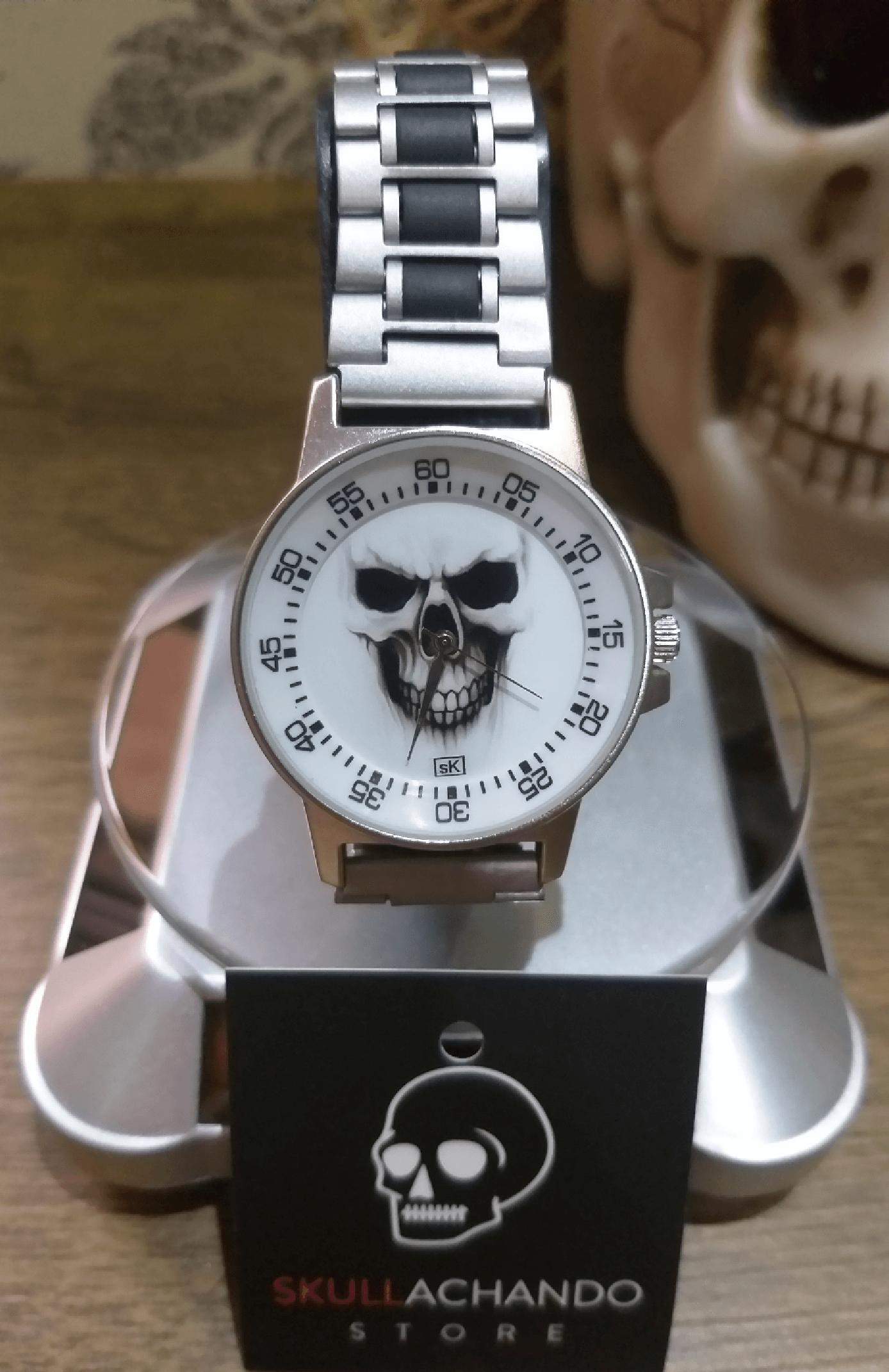 Relógio Caveira SK Metallera - SkullAchando