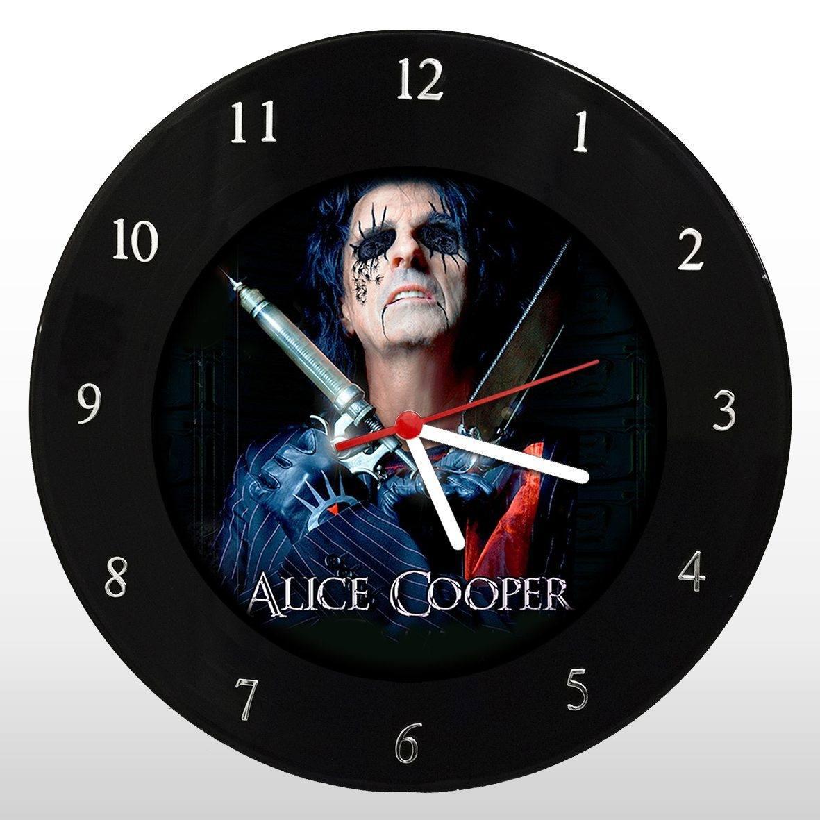 Alice Cooper - Relógio de Parede em Disco de Vinil - Mr. Rock