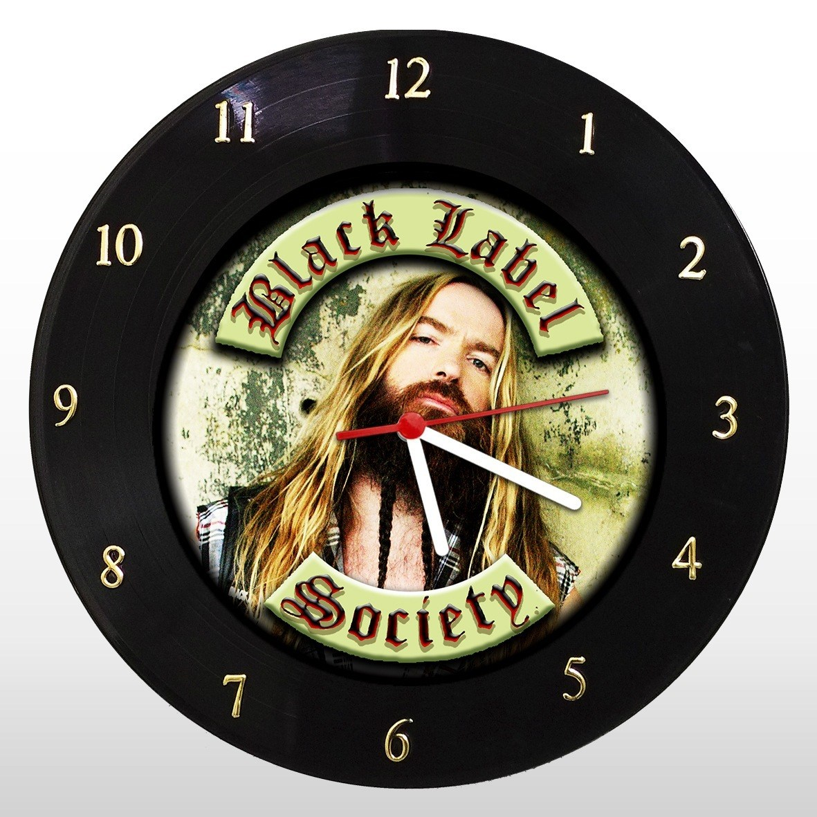 Black Label Society - Relógio de Parede em Disco de Vinil - Mr. Rock