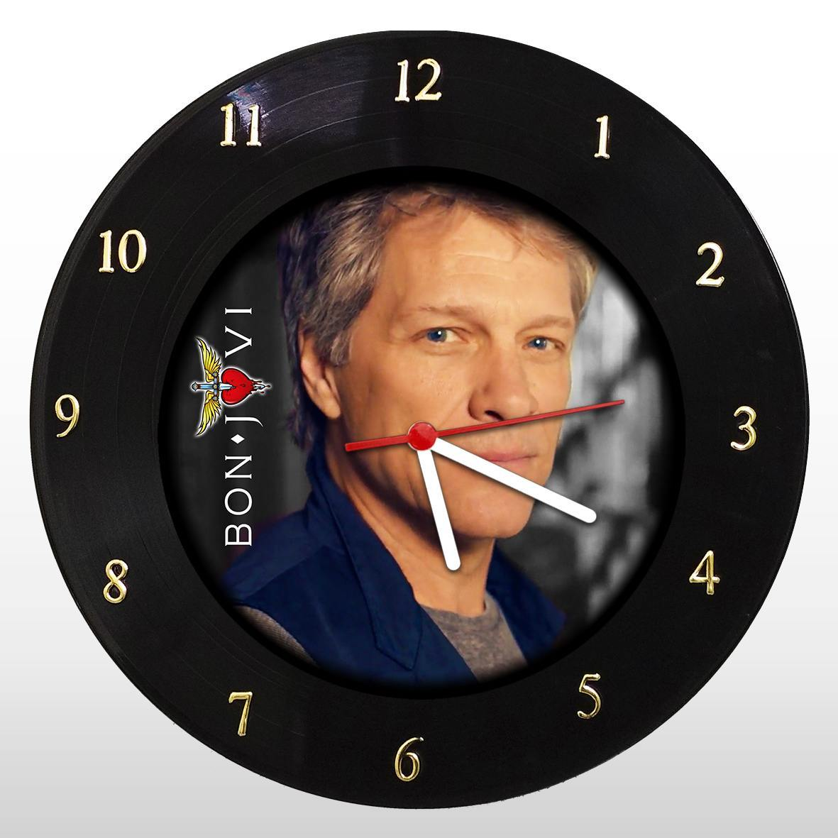 Bon Jovi - Relógio de Parede em Disco de Vinil - Mr. Rock