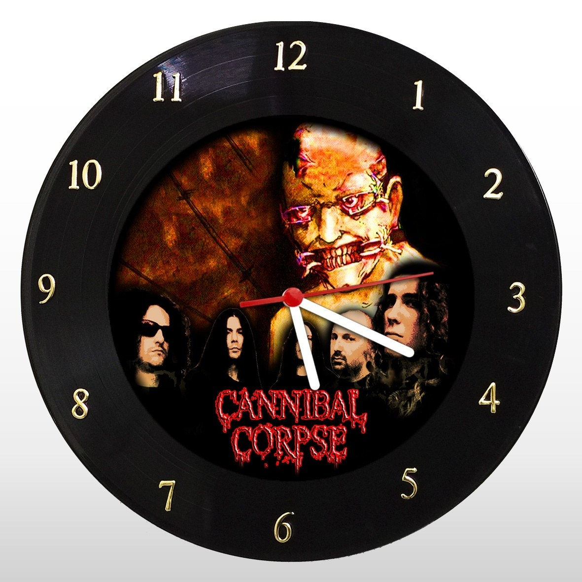 Cannibal Corpse - Relógio de Parede em Disco de Vinil - Mr. Rock