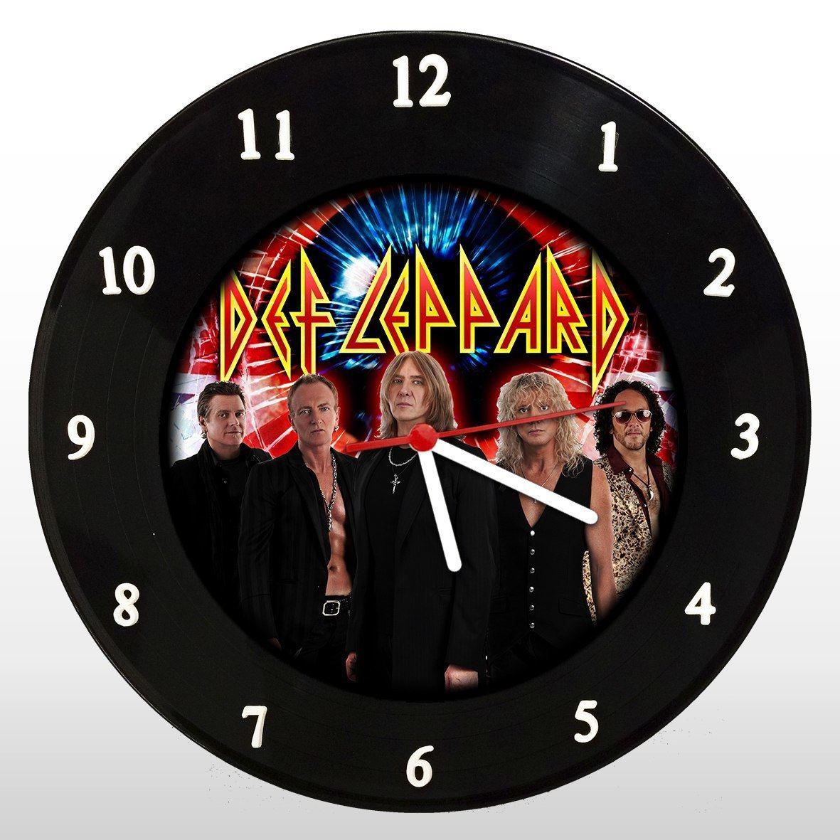 Def Leppard - Relógio de Parede em Disco de Vinil - Mr. Rock