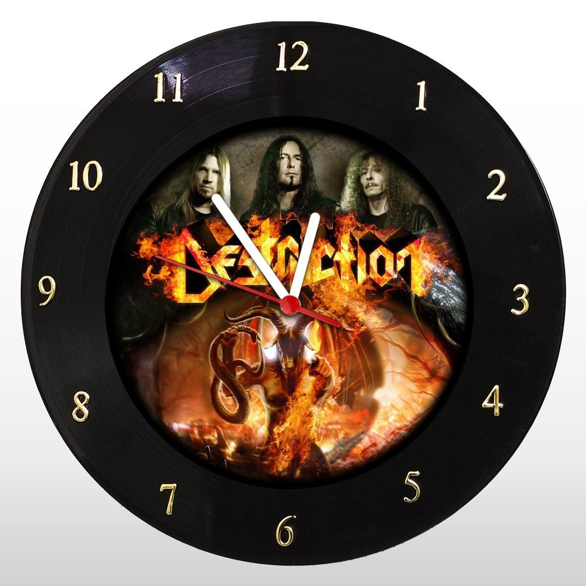 Destruction - Relógio de Parede em Disco de Vinil - Mr. Rock