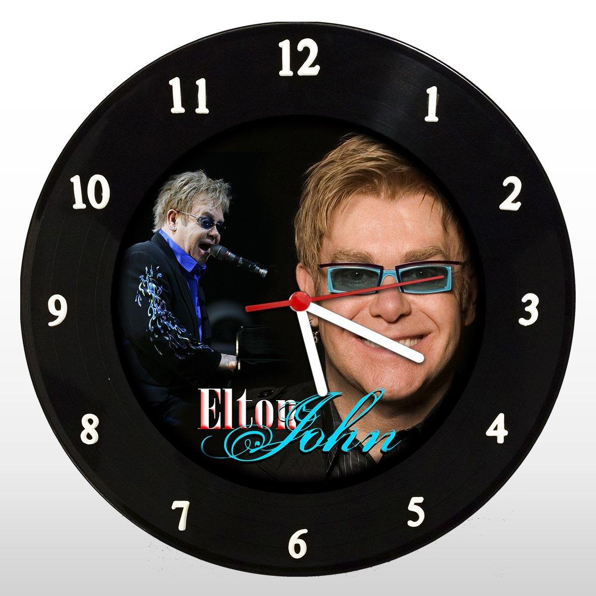 Elton John - Relógio de Parede em Disco de Vinil - Mr. Rock