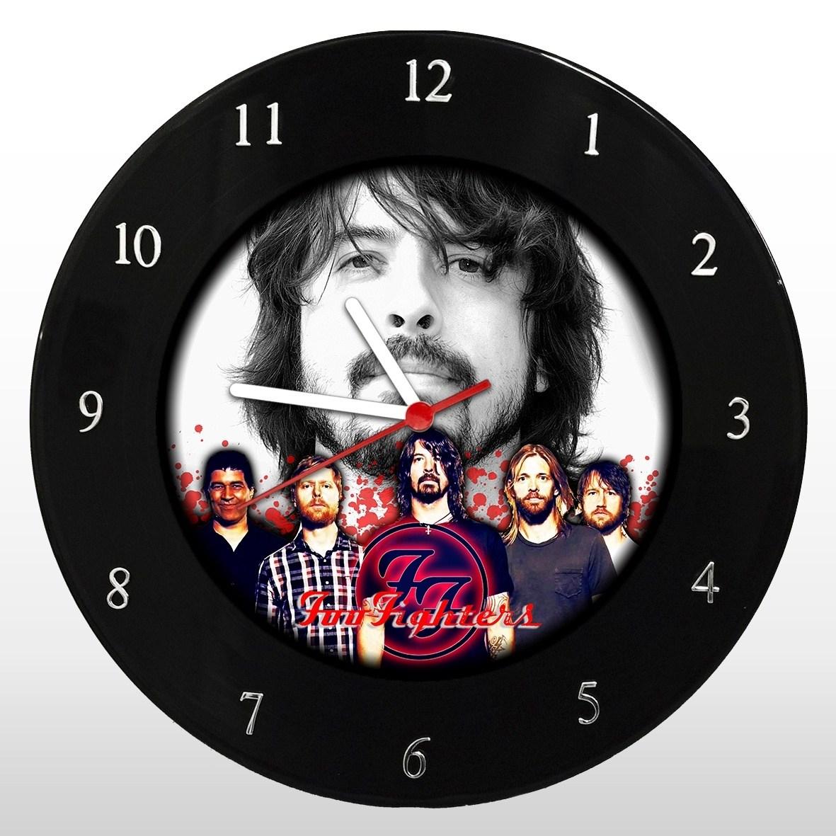 Foo Fighters - Relógio de Parede em Disco de Vinil - Mr. Rock
