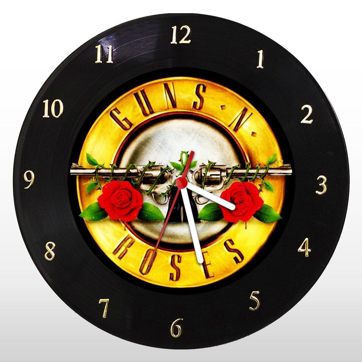 Guns'n'Roses  - Relógio de Parede em Disco de Vinil - Mr. Rock - Guns