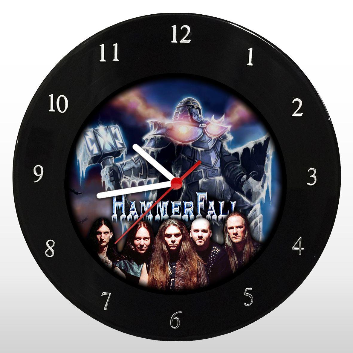 Hammerfall - Relógio de Parede em Disco de Vinil - Mr. Rock