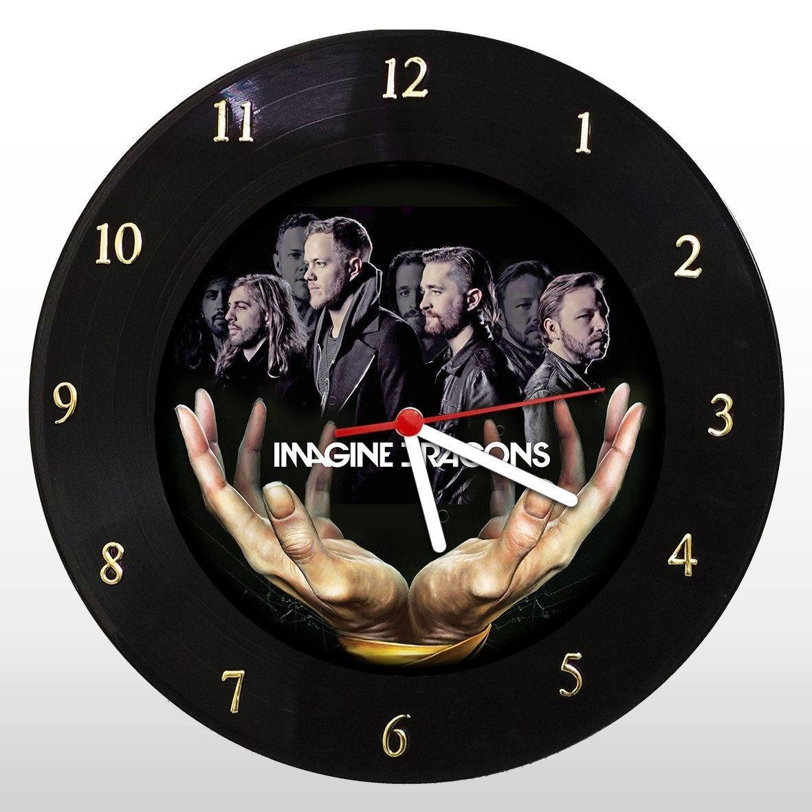 Imagine Dragons - Relógio de Parede em Disco de Vinil - Mr. Rock