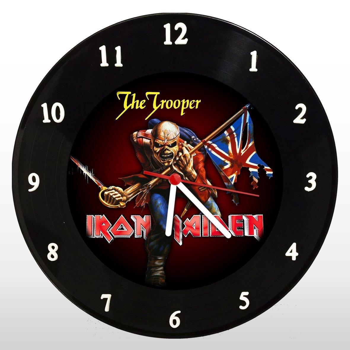 Iron Maiden - The Trooper - Relógio de Parede em Disco de Vinil - Mr. Rock