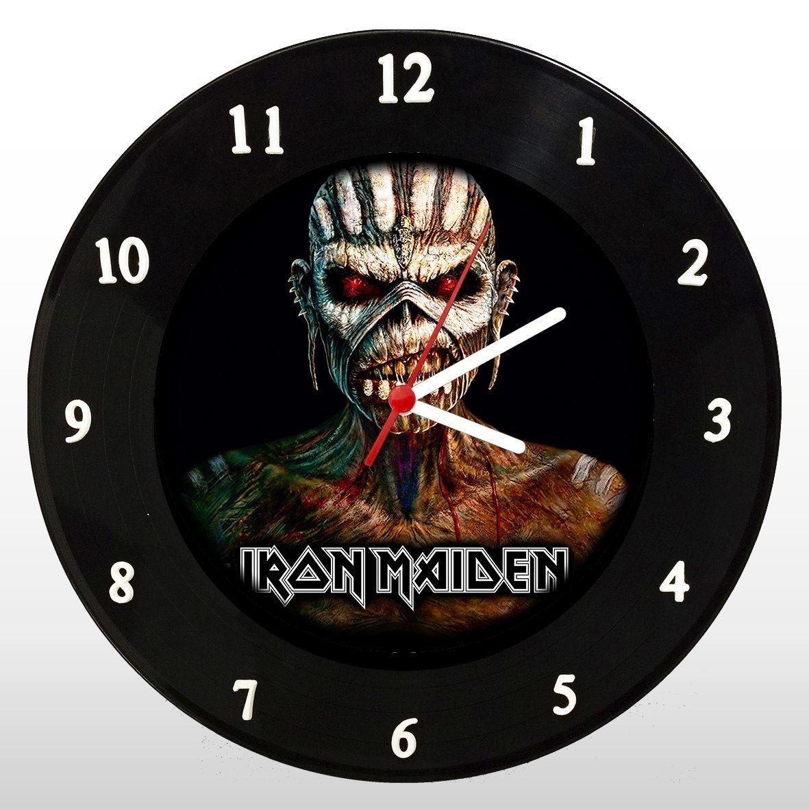 Iron Maiden - The Book of Souls - Relógio de Parede em Disco de Vinil - Mr. Rock