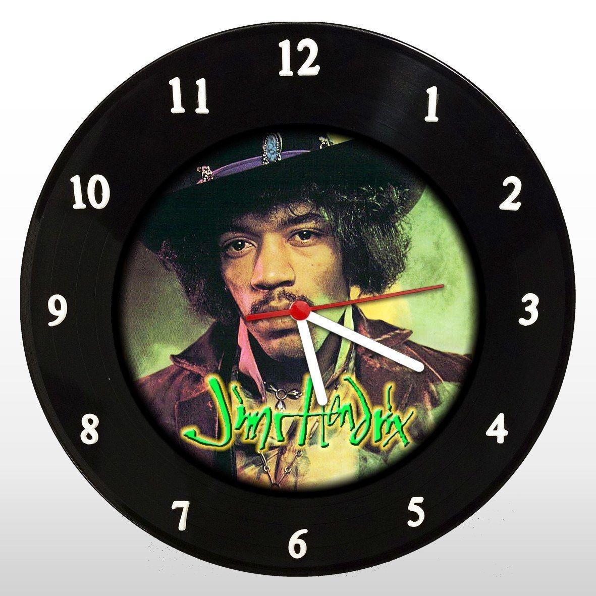 Jimi Hendrix - Relógio de Parede em Disco de Vinil - Mr. Rock