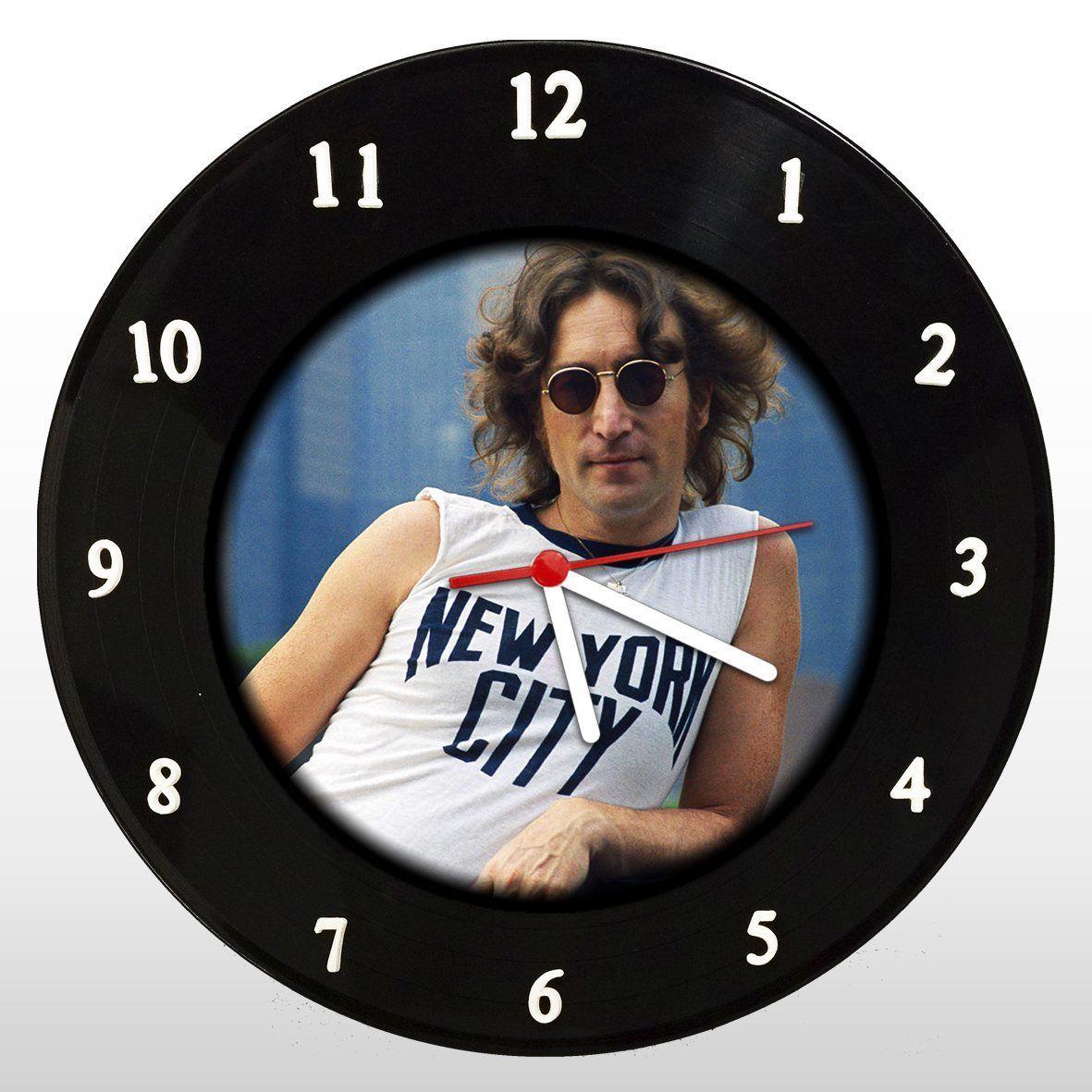 John Lennon - Relógio de Parede em Disco de Vinil - Mr. Rock