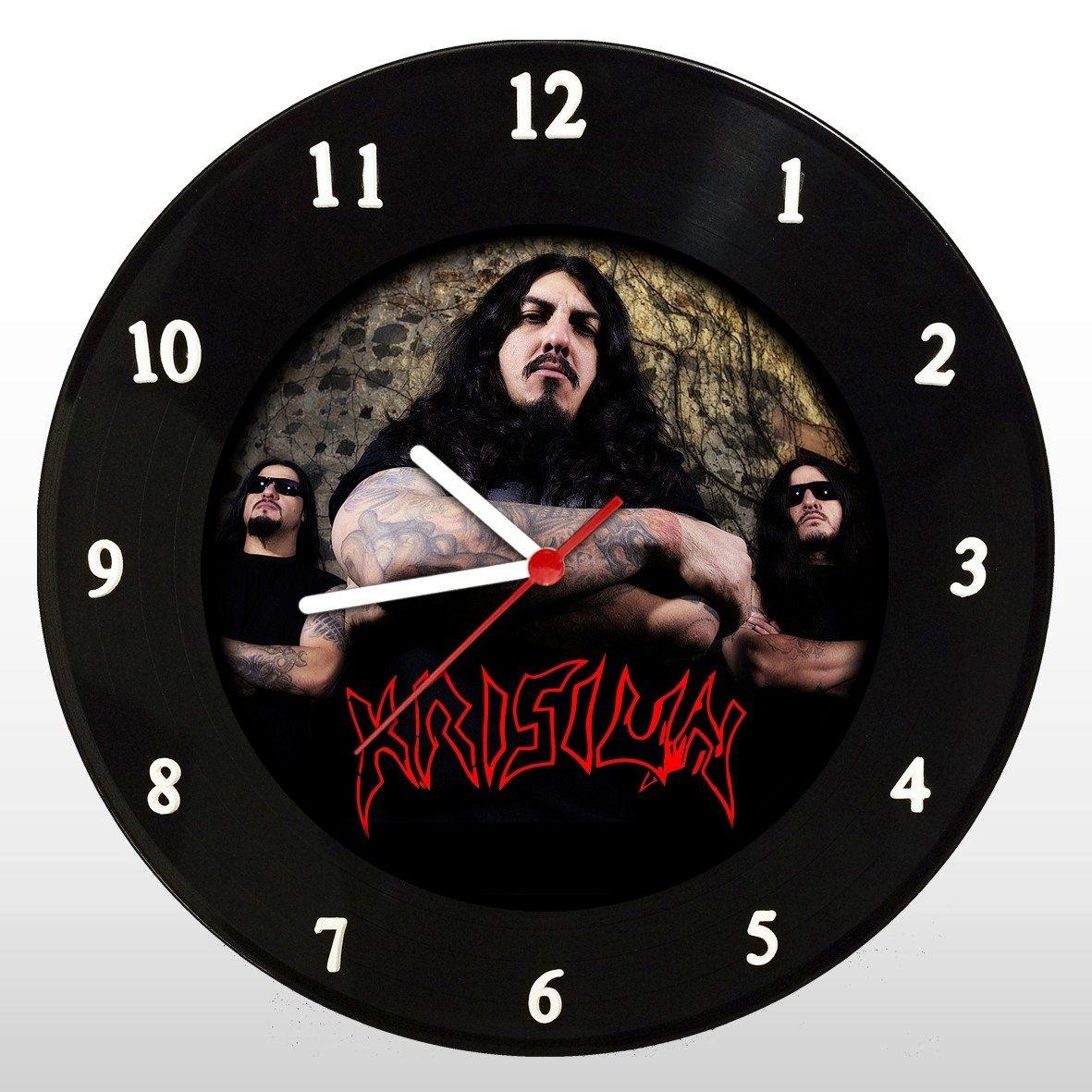 Krisiun - Relógio de Parede em Disco de Vinil - Mr. Rock