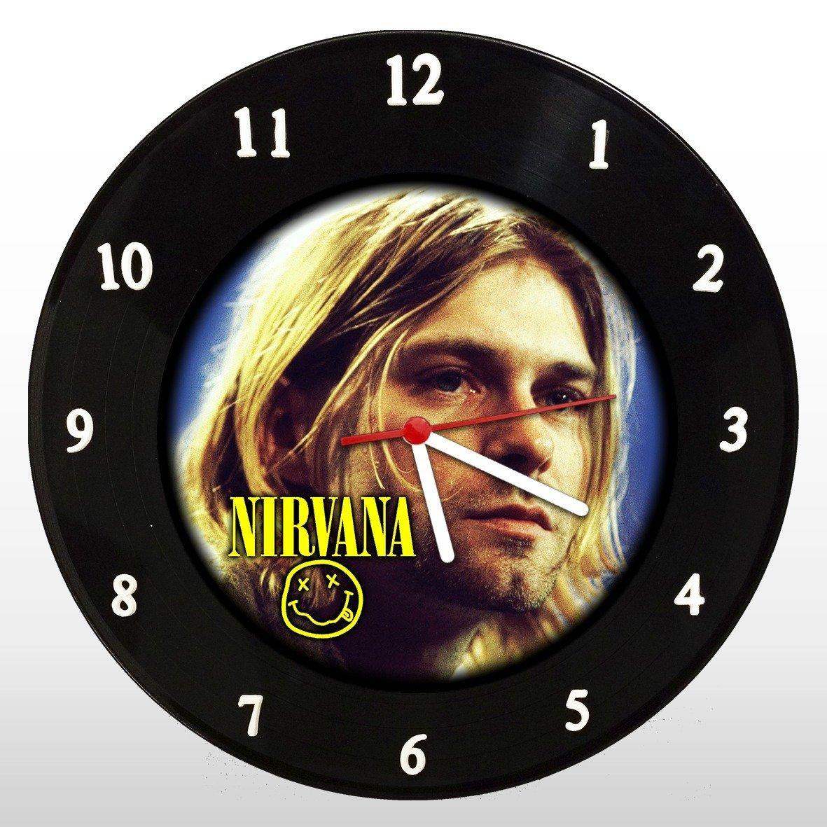 Kurt Cobain - Relógio de Parede em Disco de Vinil - Mr. Rock