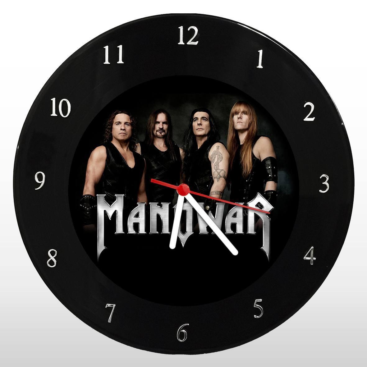 Manowar - Relógio de Parede em Disco de Vinil - Mr. Rock