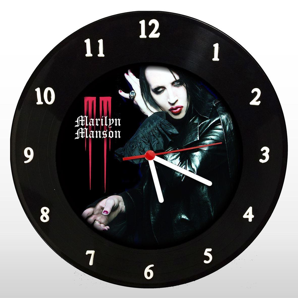 Marilyn Manson - Relógio de Parede em Disco de Vinil - Mr. Rock