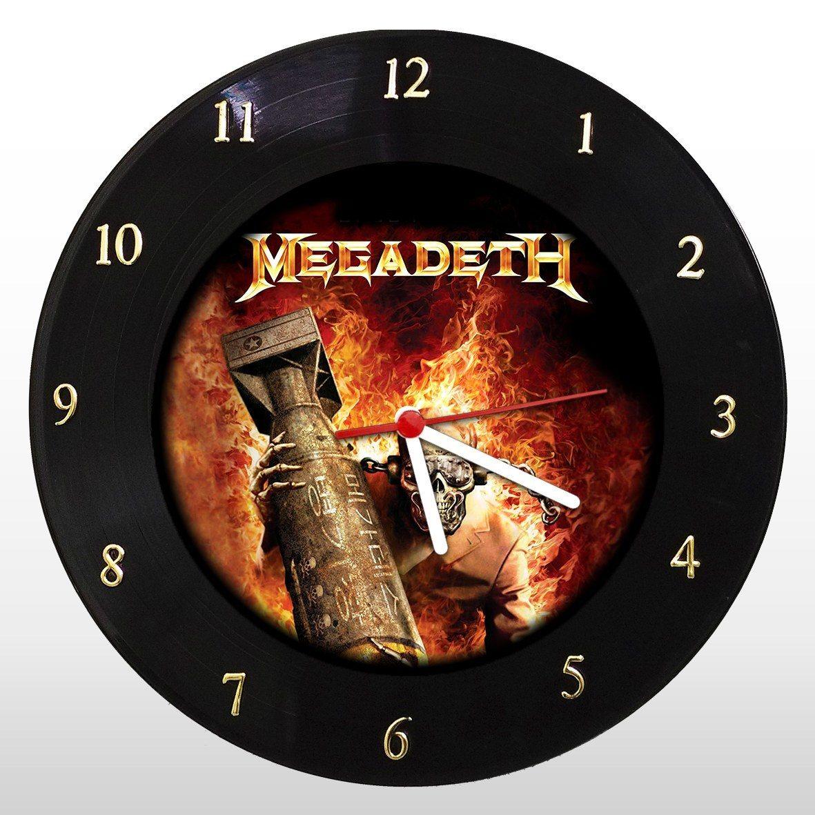 Megadeth - Relógio de Parede em Disco de Vinil - Mr. Rock