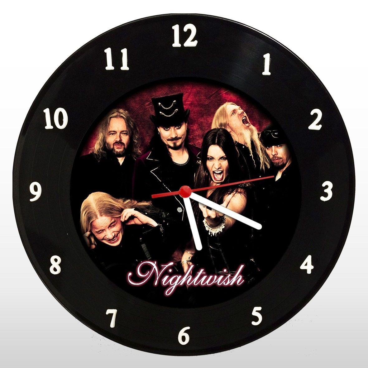 Nigthwish - Relógio de Parede em Disco de Vinil - Mr. Rock