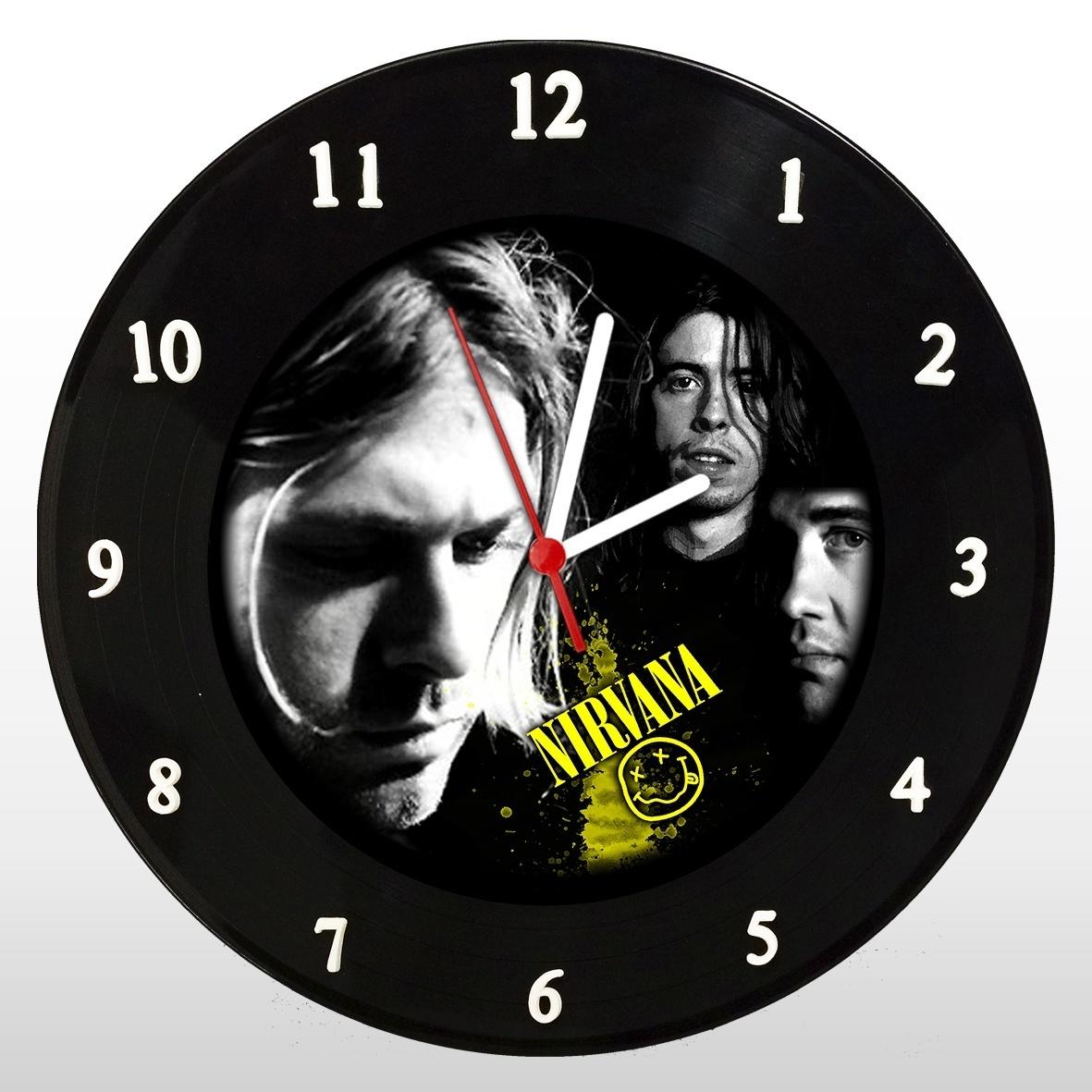 Nirvana - Relógio de Parede em Disco de Vinil - Mr. Rock