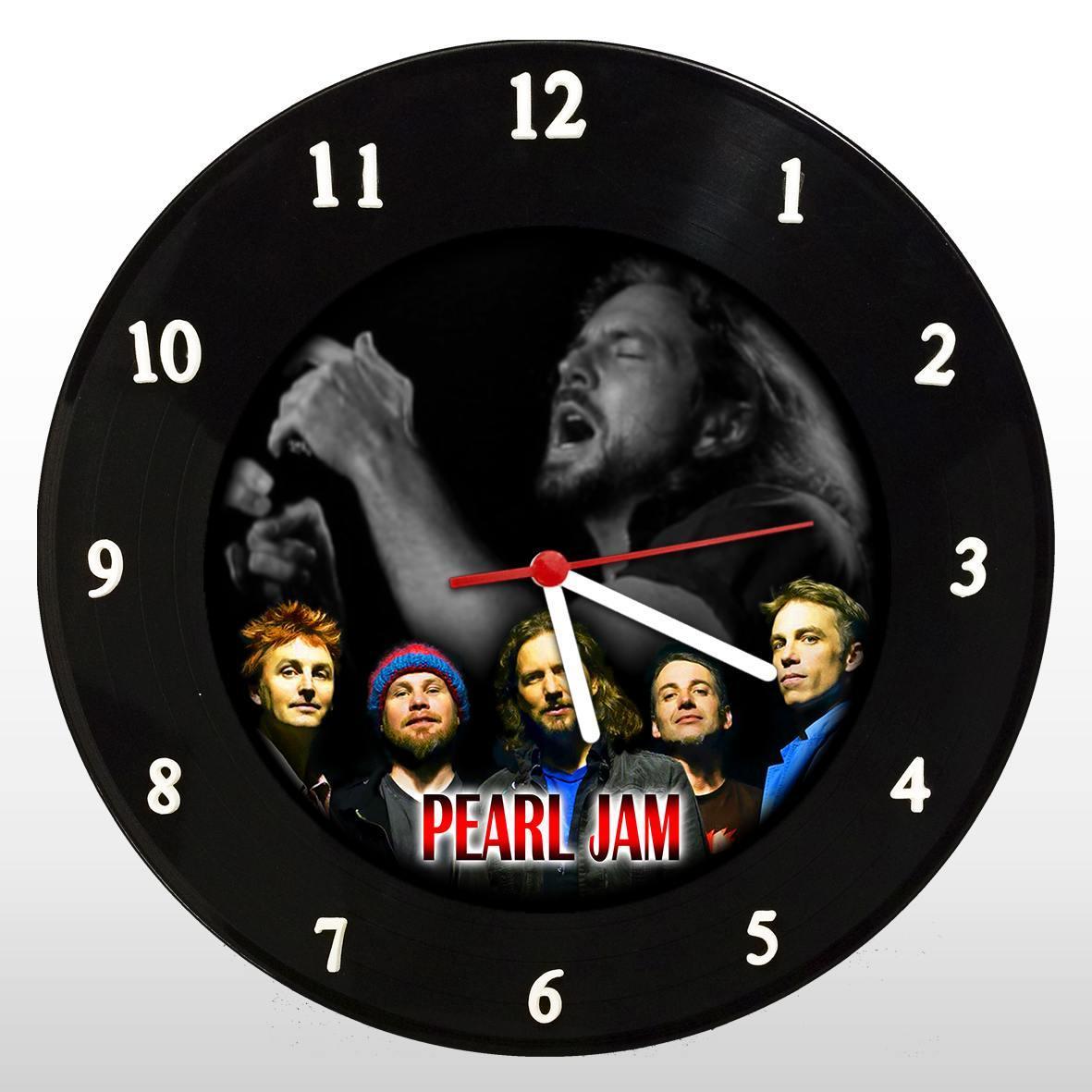 Pearl Jam - Relógio de Parede em Disco de Vinil - Mr. Rock