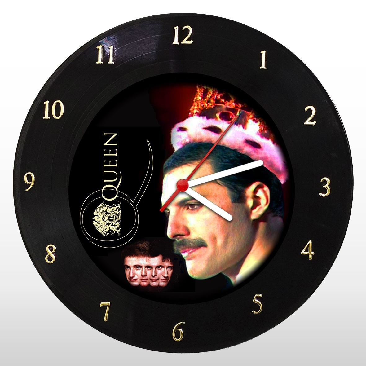 Queen - Relógio de Parede em Disco de Vinil - Mr. Rock