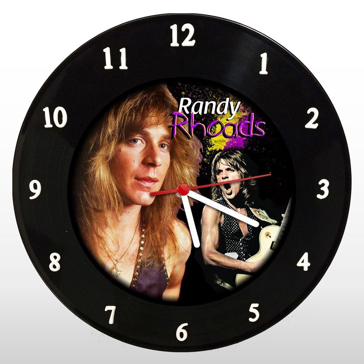 Randy Rhoads - Relógio de Parede em Disco de Vinil - Mr. Rock