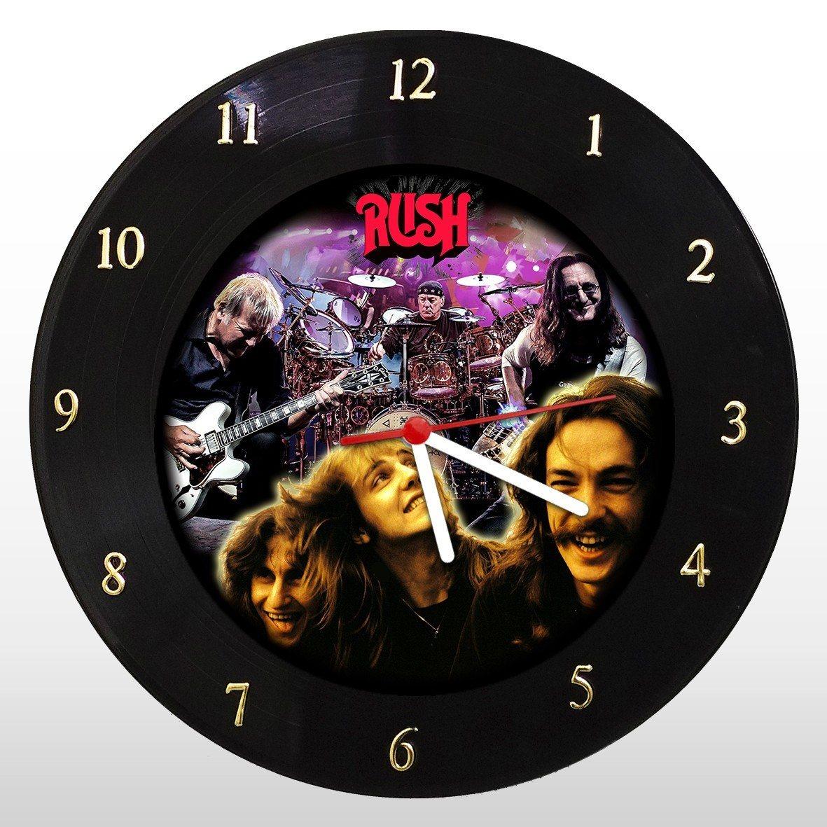 RUSH - Relógio de Parede em Disco de Vinil - Mr. Rock