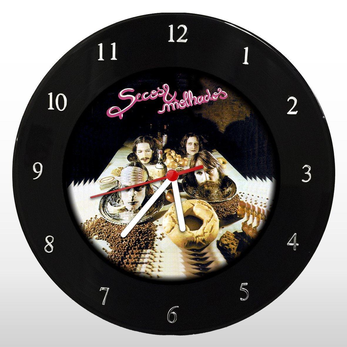 Secos e Molhados - Relógio de Parede em Disco de Vinil - Mr. Rock