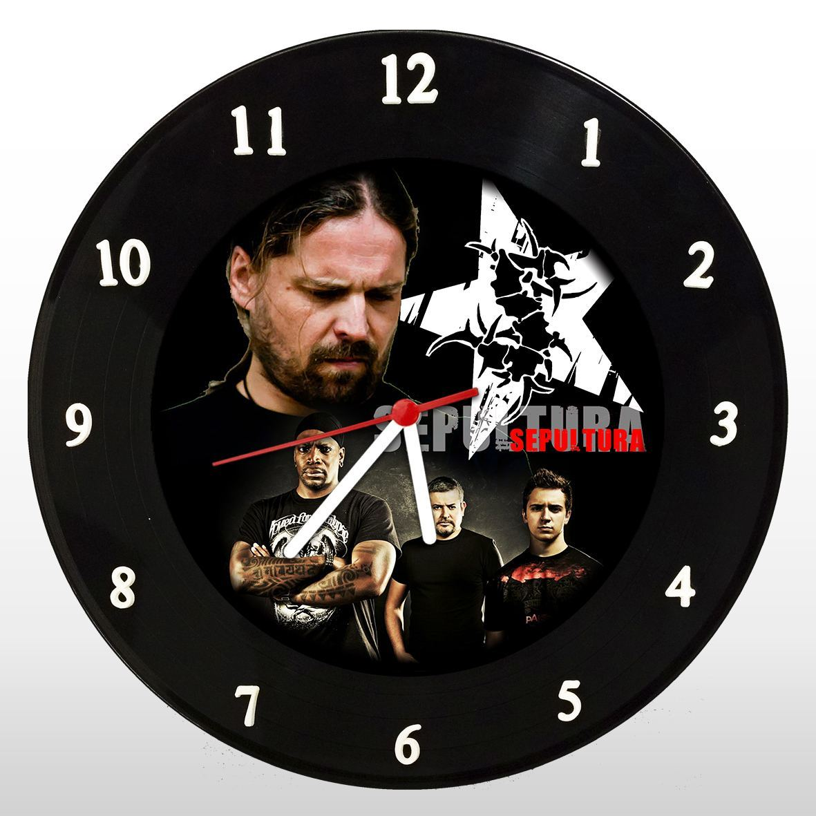 Sepultura - Relógio de Parede em Disco de Vinil - Mr. Rock