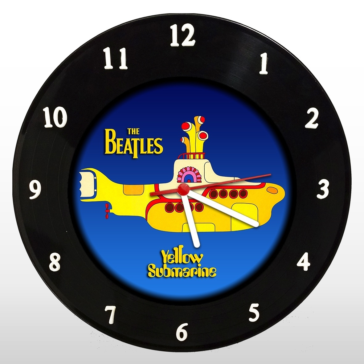 The Beatles - Yellow Submarine - Relógio de Parede em Disco de Vinil - Mr. Rock