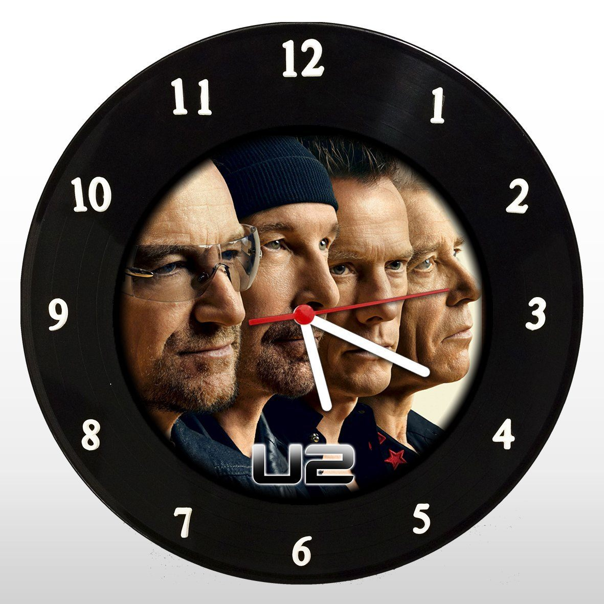 U2 - Relógio de Parede em Disco de Vinil - Mr. Rock