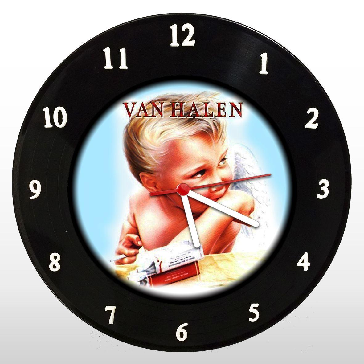 Van Halen - Relógio de Parede em Disco de Vinil - Mr. Rock