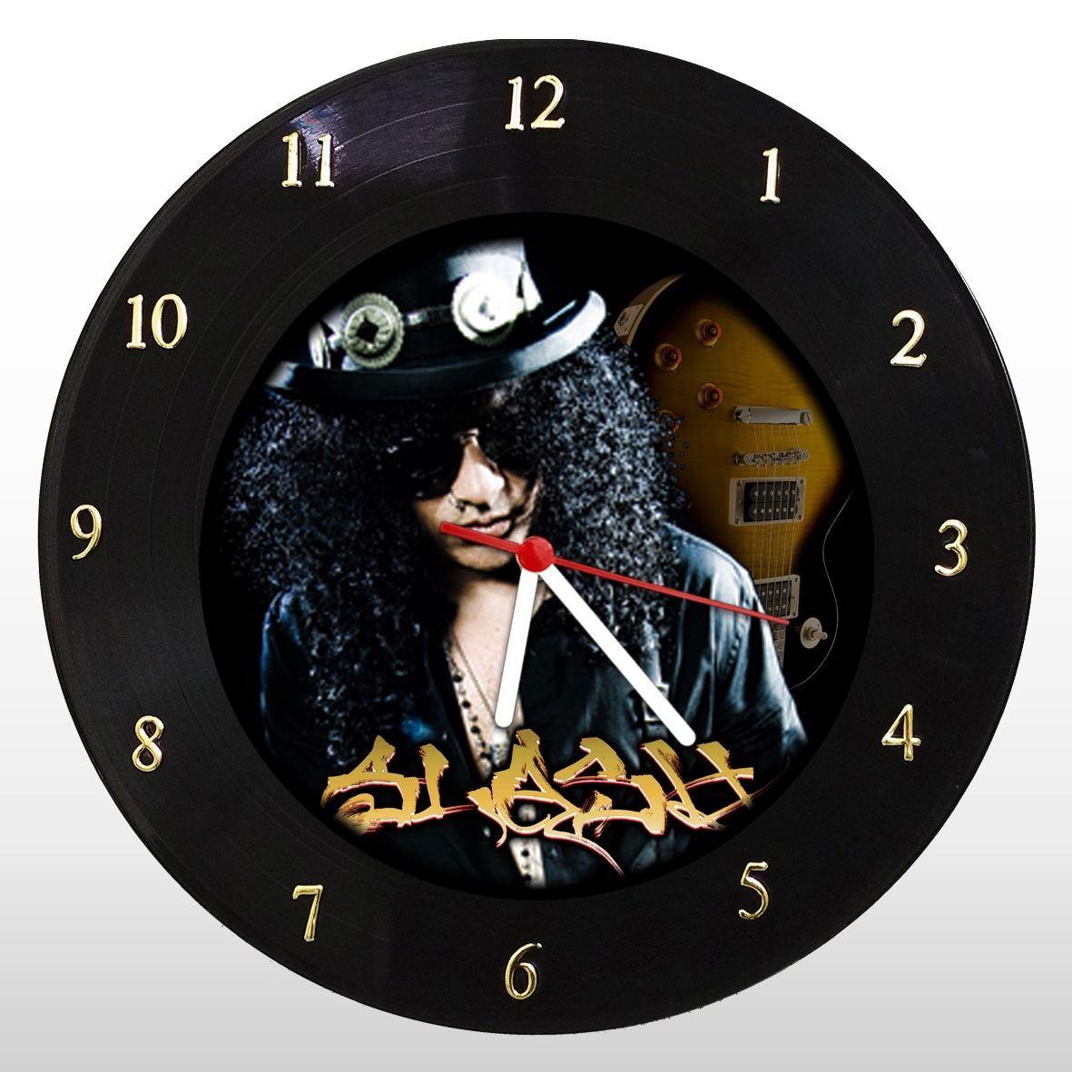 Slash - Relógio de Parede em Disco de Vinil - Mr. Rock