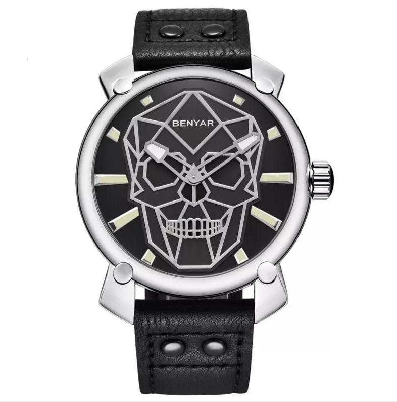 Relógio Geometria Skull - SkullAchando