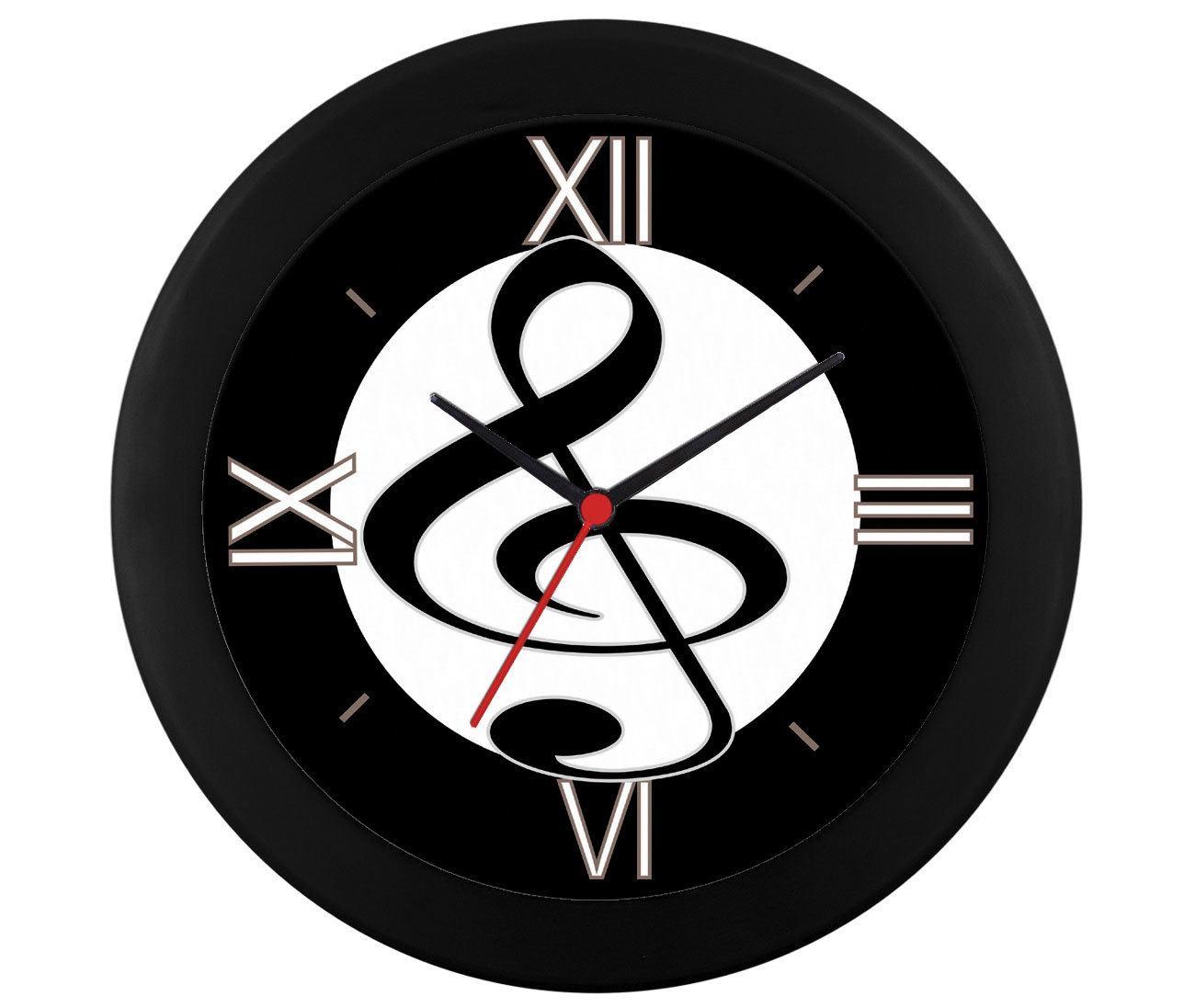 Relógio parede clave sol