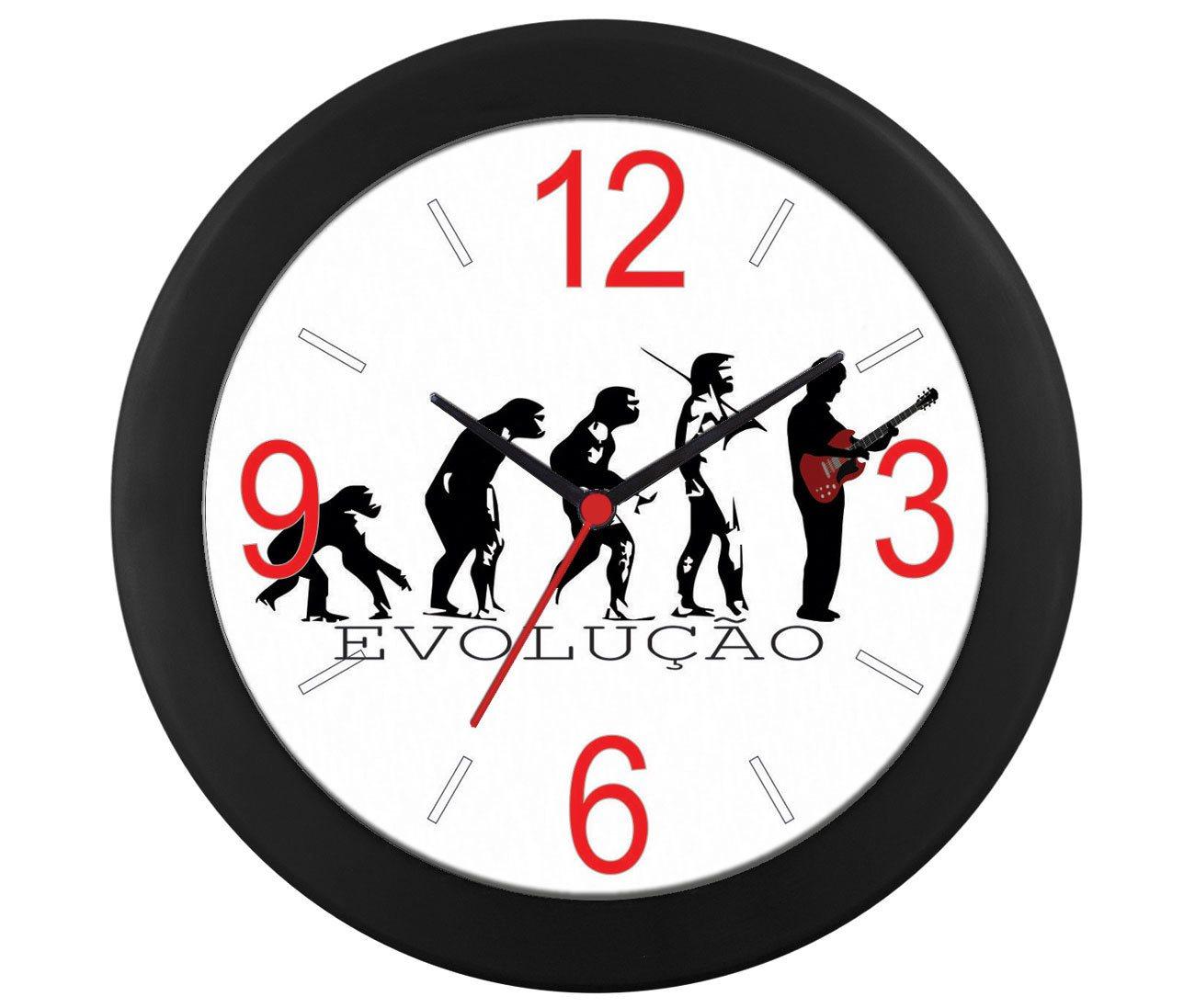 Relógio parede Evolução Guitarra