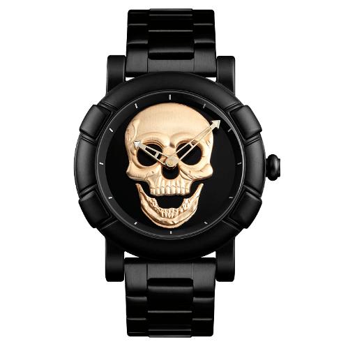 Relógio Rebel Skull Dourado - SkullAchando