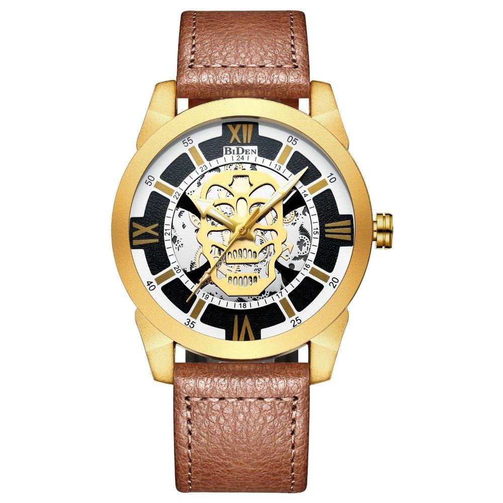 Relógio Skull Classic Marron – SkullAchando