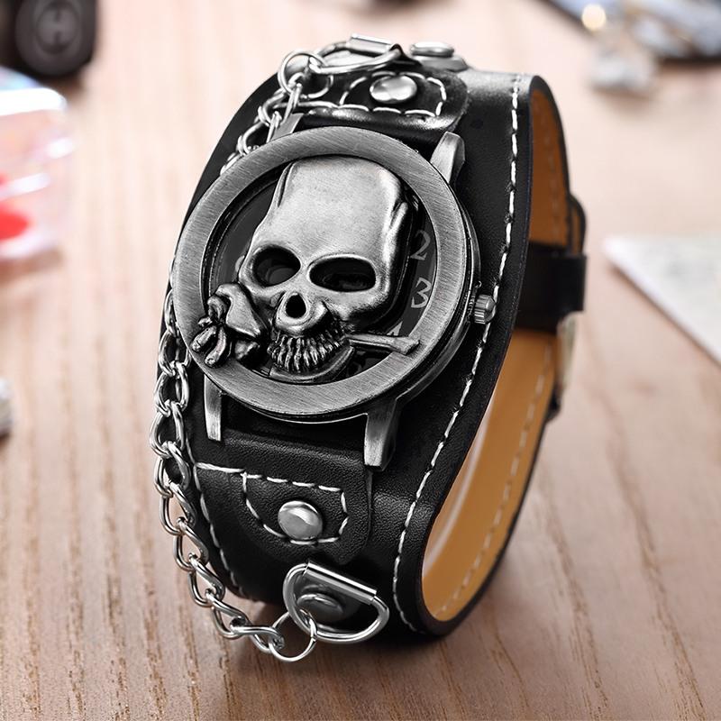 Relógio Skull Pulseira Corrente Tango - SkullAchando