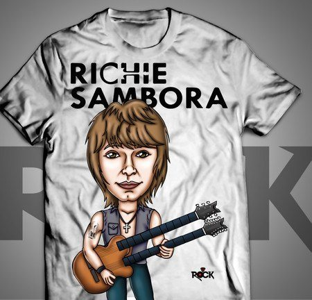 Camiseta Exclusiva Mitos do Rock Richie Sambora