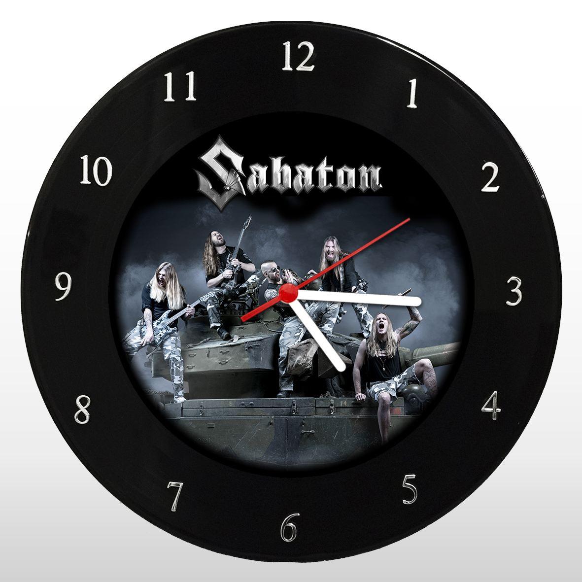 Sabaton - Relógio de Parede em Disco de Vinil - Mr. Rock