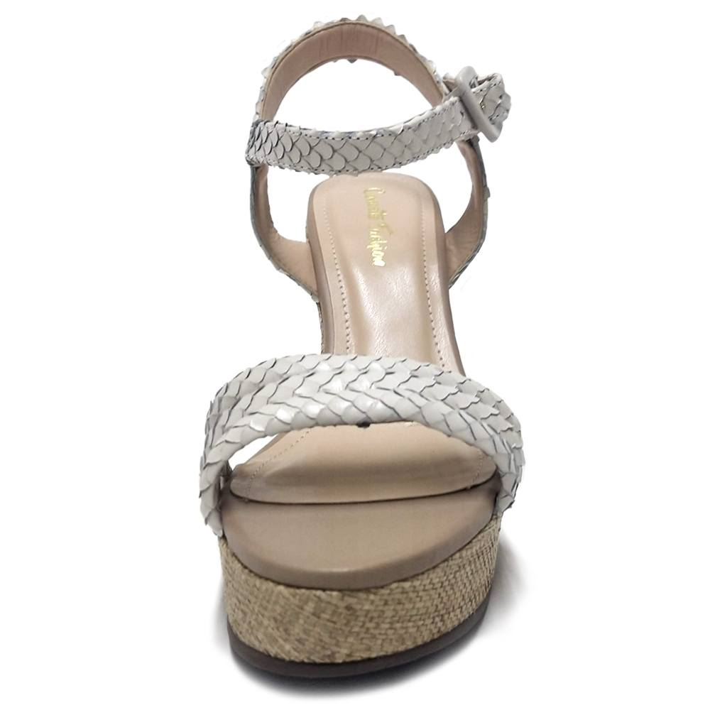 Sandália Plataforma Cobra Branco Feminino