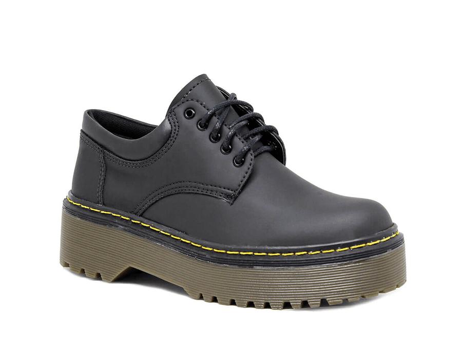 Sapato Colegial Inglês Preto Fosco - Estilo Veggie Shoes